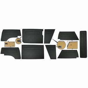 Bekledingspanelen zwart vinyl 9 delig