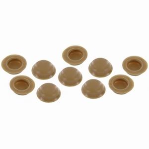 Schroef afdekkapje bruin / beige 10 stuks