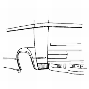 Zijpaneel hoekplaat [ links ]