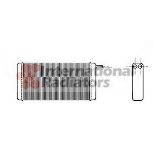 Kachelradiateur interieurverwarming ( voorzijde )
