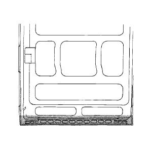 Schuifdeur onder [ binnenzijde ]